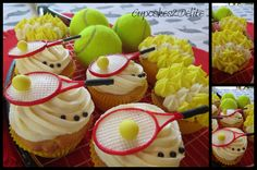 tennis cupcakes   Tennis Cupcakes