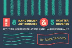 This brush set is trully awesome! today we can have Handdrawn vector brush free demo. These brushes are made for illustrator