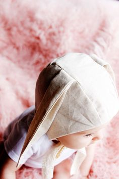Bunny Bonnet Pattern - see kate sew Baby Bonnet Pattern Free, Baby Hat Knitting Pattern, Hat Patterns To Sew, Baby Hats Knitting, Baby Patterns, Beanie Pattern, Baby Bunny Costume, Baby Sewing Projects, Baby Bonnets