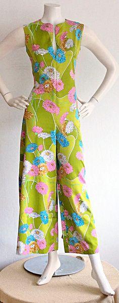 1970s Vintage Psychedelic Jumpsuit / Vintage Pucci by brentedwardvintage OMGYESSSSSS