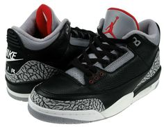 Air Jordan 3 (III) Retro 2001 - Black / Cement Grey | KicksOnFire