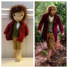 Bilbo Baggins (aka The Hobbit) by Ariel Haug (www.facebook.com/Noonchi.Crafts), via Flickr #amigurumi