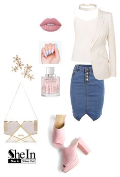 """""""SheIn"""" by eshlychenko ❤ liked on Polyvore featuring Ted Baker, Alexander McQueen, River Island, Jimmy Choo, Lime Crime, Humble Chic and Bonheur"""
