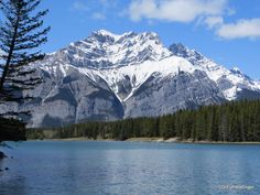 Cascade Mountain, viewed from Johnson Lake, Banff National Park   TravelGumbo
