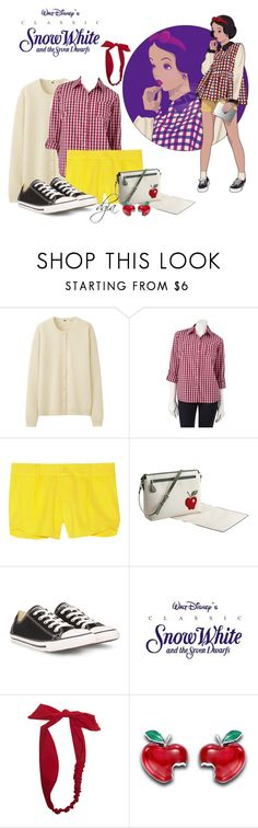 """""""Disney Inspiration"""" by dgia ❤ liked on Polyvore featuring Uniqlo, Croft & Barrow, Disney, Alice + Olivia, Pineider, Converse and Wet Seal"""