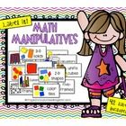 Organize your math manipulatives with these fun, colorful labels! Includes 42 labels:  -base-10 blocks -2-color counters -pattern blocks -geoboards...