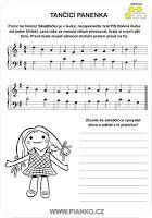 Dancing doll - piano sheet for kids