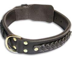 Black #German #Shepherd #Dog #Leather #Collar 19 inch/19'' | www.all-about-german-shepherd-dog-breed.com