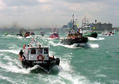 The normally sedate Detroit River comes alive with roaring diesels and blaring air horns when tug boats of all sizes race for glory and trophies in the annual International Tug Boat Race.