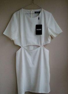 Kup mój przedmiot na #vintedpl http://www.vinted.pl/damska-odziez/krotkie-sukienki/16832427-biala-sukienka-missguided-r-40