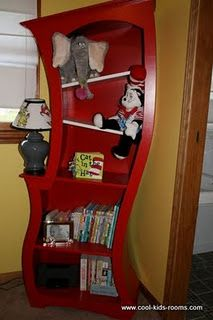 Dr. Seuss bookshelf...love it!  Lisa Mitchell this wants to come home with you