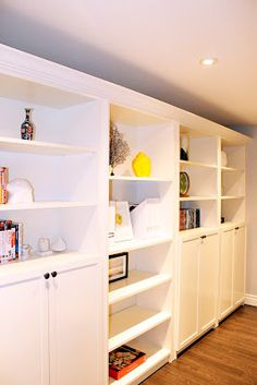 AM Dolce Vita: Accessorizing Built-in Shelves and Bookcases, Ikea Billy Bookcase Built-in Shelf, Ikea Billy Bookcase Hack, Ikea Hack