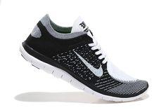 Nike Free Run Flyknit 4.0 Grey White $60.99