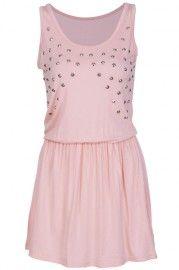 Rivets Embellished Pink Bodycon Dress #ROMWEROCOCO