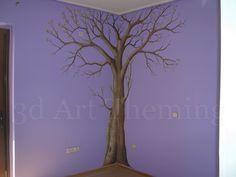 ζωγραφισμένο δέντρο | παιδικό δωμάτιο