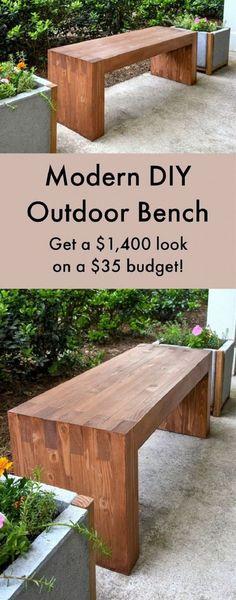 Make a Modern Outdoor Bench