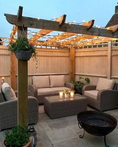 Garden decor inspiration with Moda Furnishings furniture, pergola and fairy ligh. - Garden decor inspiration with Moda Furnishings furniture, pergola and fairy lights Backyard Seating, Patio Gazebo, Backyard Patio Designs, Diy Pergola, Pergola Designs, Pergola Garden, Backyard Ideas, Small Backyard Patio, Gazebo Ideas