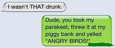 Text from last night...