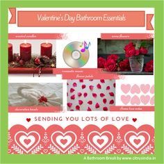 Valentine's Day bathroom essentials- what you need to add romance to your bathroom- whatever size it may be Romantic Bathrooms, Romantic Music, Bathroom Essentials, Love Notes, Product Offering, Scented Candles, Bathroom Ideas, Valentines Day, Romance