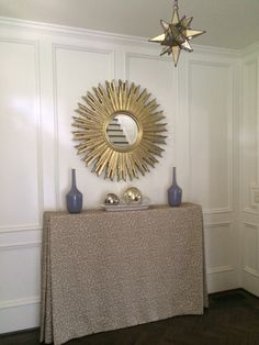 making an entrance. foyer space. starburst. schumacher mary mcdonald python