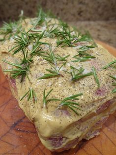 Scrumpdillyicious: Roasted Boneless Pork Rib with Mustard & Rosemary