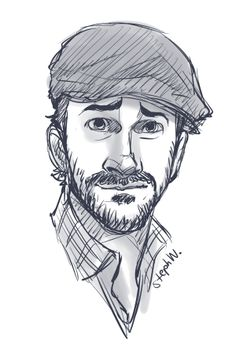 andlatitude: Since there's been no art on my blog yet today, let me present to you a dumb little sketch of Richard that one time he and Rob accidentally wore the same hat.