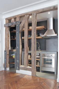 rustic modern industrial kitchen