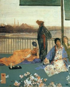 James Abbot McNeil Whistler - Variations in Flesh Colour and Green in the Balcony