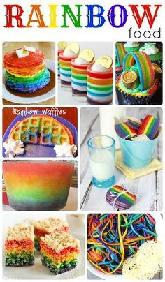 Rainbow Food #StPatricksDay #Recipes #Crafts