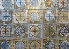 moroccan tiles in my entrance hall (1900 Comillas by VIVES Cerámica)