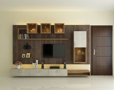 Tv Unit Furniture Design, Tv Unit Interior Design, Residential Interior Design, Commercial Interior Design, Living Room Wall Units, Living Room Tv Unit Designs, Living Room Partition Design, Room Partition Designs, Buddha Home Decor