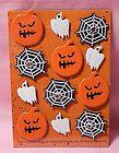 Martha Stewart Brads Pumpkins Spiderwebs Ghosts Halloween Scrapbook Cards