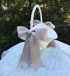 One Fall Flower Girl Basket 1 Ring Pillow,Guest Book,Pen 2 garters