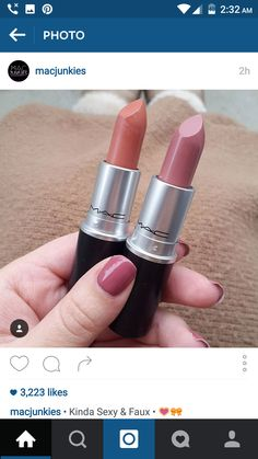 #lip #swatch #MAC #pink #nude