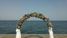 Look at those vivid colours in the Wedding Arch! So wonderful! Great choice for a wedding in spring! Wedding Arches, Wedding Ceremony, Wedding Flowers, Wedding Videos, Post Wedding, Start Tv, Corfu Holidays, Flower Decorations, Wedding Decorations