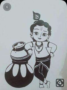 Little Krishna krishna. Disney Drawings Sketches, Girl Drawing Sketches, Mini Drawings, Girly Drawings, Art Drawings For Kids, Art Drawings Sketches Simple, Daisy Drawing, Drawing Ideas, Pencil Drawing Images