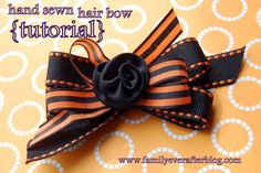Family Ever After....: Hand Sewn Hair Bow Tutorial