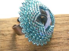 Renaissance Venetian Inspired  Ring  baby blue and by LaPerLaA,