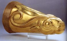 Golden drinking cup (rhyton) found at Ecbatana, Iran. Location: National Museum of Iran, Teheran.