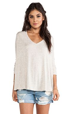 Free People Sunday Tee in Oatmeal | REVOLVE $68