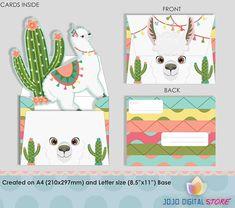 Editable Llama Cactus Alpaca invitations for Llama Party