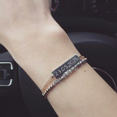 Save the date bracelet handstamped by ATELIER Gaby Marcos