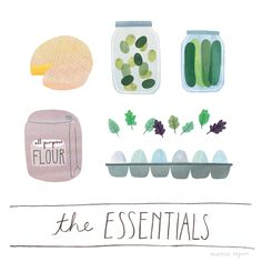 This site is an illustrator's dream. Such cute images of grocery staples. And cake. :)