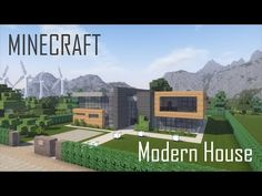 Minecraft Modern House 3 (full interior) + Download - YouTube Minecraft Mods, Minecraft Modern City, Minecraft Building Guide, Minecraft City Buildings, Easy Minecraft Houses, Minecraft Houses Blueprints, Minecraft House Designs, Minecraft Architecture, Minecraft Bedroom