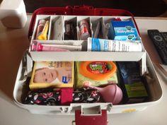 Baby medicine cabinet/ tackle box.