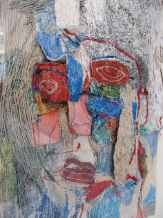 3D stitched portrait by Alice Kettle at Knit and Stitch '13