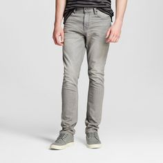 Men's Slim Fit Jeans Grey Wash 38x32 - Mossimo Supply Co., Gray