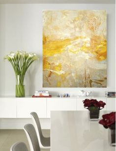 yellow painting, The Dance, oil and pigment on canvas. © Amy Donaldson 2011