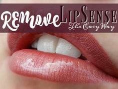 I LOVE LipSense, but let's face it, it's flippin tricky to remove because it LASTS FOREVER!!  This is a quick, easy, and super healthy way to remove it!