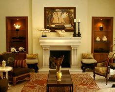 """Known as parlors in the 19th century, in the 20th century this space was renamed the """"living room"""" where one can entertain guests, watch television, read, and practice the art of living."""